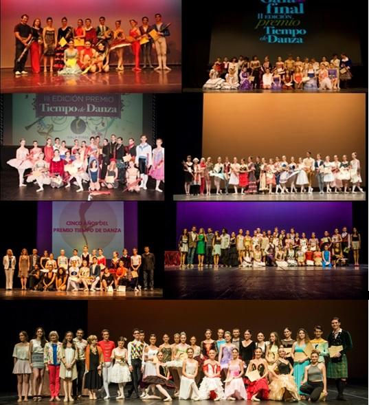 Imágenes de las ediciones 1ª-7ª del Premio Tiempo de Danza (2009-2015). © Fotos: Pepe H.-